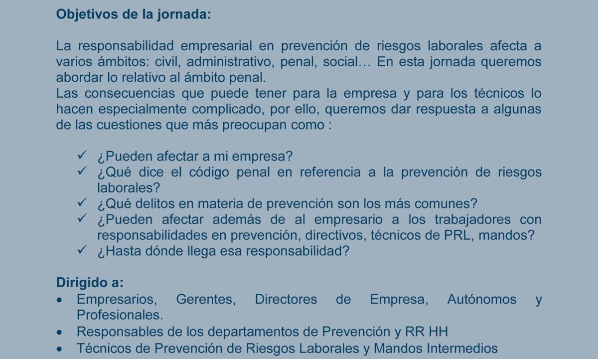 Tirso, prevención de riesgos laborales