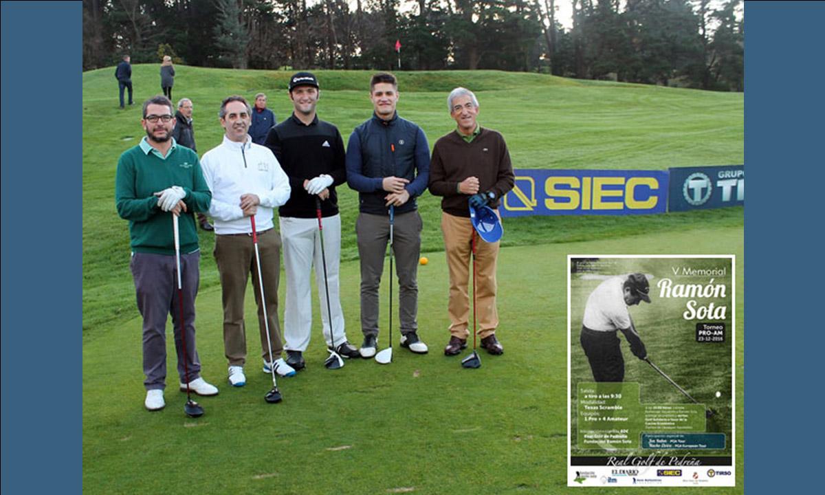 Grupo Tirso, memorial ramon sota, RSE tirso, Real golf de pedreña, jon rahm, nacho elvira