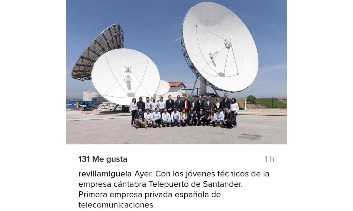 Tirso, Revilla visita Santander Teleport, Cantabria